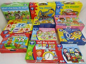 Orchard Toys pre school educational fun learning games & puzzles bundle x 11