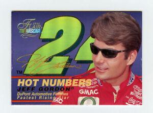 Jeff Gordon 1996 96 Flair Hot Numbers Embossed Holofoil Insert Card Fleer #3
