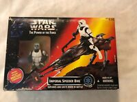 1995 Imperial Speeder Bike & Biker Scout Star Wars POTF MISB NEW