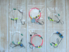 Sea fishing Rigs x 6: Pulleys, pulley pennel, flappers, Strong Shore Rigs