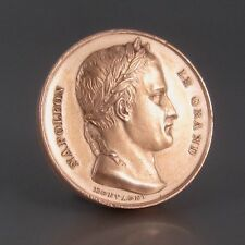 AntiqueFrench CopperMedal, Napoleon I, Arc de Triomphe, French Army, 1836