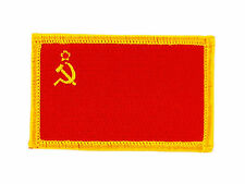 FLAG PATCH PATCHES USSR SOCIET CCCP RUSSIA IRON ON EMBROIDERED SMALL