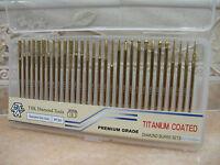 30 THK DIAMANT FRÄSERSET FRÄSER Fräseraufsätze Titan-Beschichtung 2.35mm Schaft