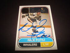 2002 TOPPS ARCHIVES NICK FOTIU WHALERS SIGNED AUTOGRAPH NHL HOCKEY CARD