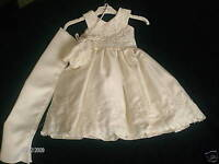 New Girls Ivory Cream Bridesmaid Flower Girl Christening Party Dress 0-3 to 12y