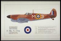 419002 Supermarine Spitfire F Mk Vc Trop A4 Photo Print