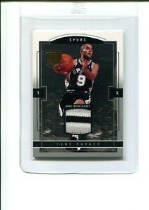 2003-04 Skybox Limited Edition Tony Parker 60 3 Color Jersey Proof Patch /399