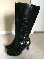 "Unlisted Kenneth Cole Women's Black ""Handshake"" Knee-high Boots Size 8.5"