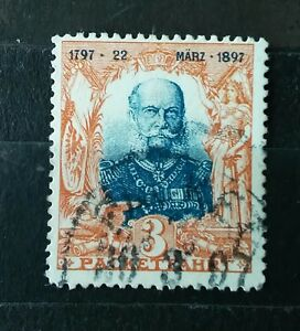 3 PF GERMANY 22 MARZ 1897 100-JUBILEE 1797 PRIVET POST PACKETFAHRT STAMP TIMBRE