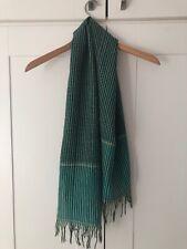 Ladies Scarf Shawl, green colour check pattern