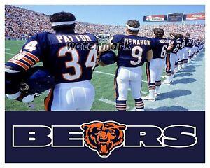NFL Chicago Bears Walter Payton Jim McMahon Pre Game Sidelines  8 X 10 Photo