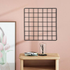 Photo Picture Wall Grid Frame Wire Notice Memo Board Display Wire Grid Panel