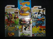 Hot Wheels Set of 6 The Beatles Yellow Submarine set plus HW Screen Time, New