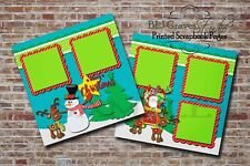 Christmas Santa 2 PRINTED Premade Scrapbook Pages Boy Girl Baby BLJgraves 2