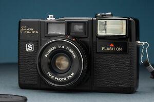 Fujica Flash S   Fujinon 38mm F/4   Metal 1980s Vintage Point & Shoot Japan Made