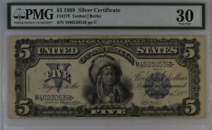 ⭐Chief Silver Certificate⭐ 1899 $5 Five Dollars FR-278 ~ PMG 30