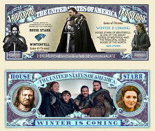 House Stark - Game of Thrones TV Series Novelty Money