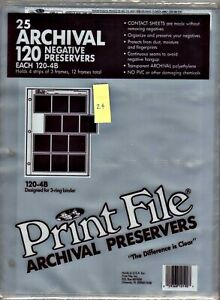 Print File 120-4B 24 Pages  Archival Storage Preserver Sheets: Partial Pack - 24