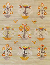 Vintage Southwestern Floral Kilim 5x7 Tribal Aztec Pattern Woven Area Rug Wool