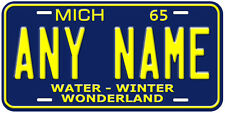 Any Name Michigan1965 Novelty Car License Plate