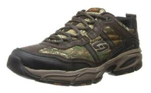 SKECHERS Men's Trail Sneakers RealTree Camouflage Camo, Medium and X Wide EEE