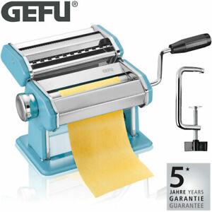 GEFU Pasta Perfetta Edelstahl Nudelmaschine Pasta Nudel Teig Maschine Azurblau