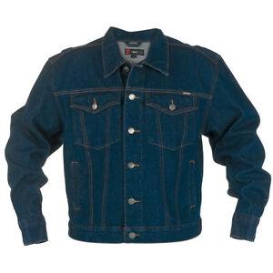 Duke men's indigo 'trucker' denim jacket size small (generous size)