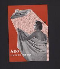BERLIN, Prospekt 1955 AEG Allgemeine Electrizitäts-Gesells. Badezimmer-Stahlofen