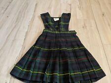 Becky Thatcher elderwear school uniform jumper navy green plaid girl sz 4
