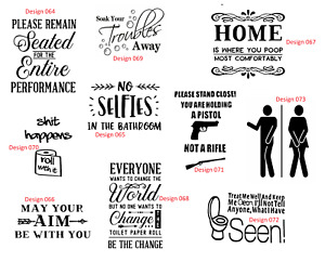 bathroom toilet sink bath decal sticker transfer home wall tile vinyl rude funny