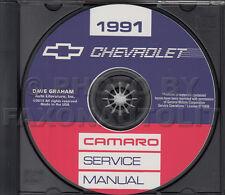 1991 Camaro Shop Manual CD Chevrolet Repair Service RS Z28 includes wiring