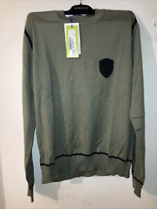 Authentic New NIB Versace Jeans Sweater Size M Winco Green Men's