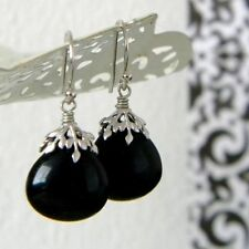 Silver Plated Jade Handcrafted Earrings