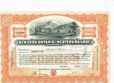 New York, Ontario and Western Railway, 1931, orange, VF+