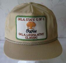 "Vintage Cap ""OAKFREE OKLA LEGISLATIVE CLASSIC OKLA STATE C of C"" USA UNION LABEL"