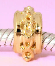 GENUINE SOLID 9CT 9K GOLD Cute Little Spacer Charm BEAD For Bracelet / Necklace