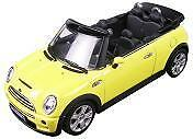 Mini Cooper S Cabrio 1:43 scale Yellow diecast by Autoart 54851 Nib!