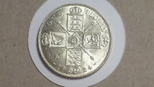 More details for 1924 florin/two shillings. nunc. lustrous. rare thus. george v.1911-1936.british