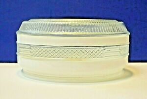 """American DeRosa Clear White 7-1/2"""" Fitter Glass 8"""" Drum Shade G937 NEW Vintage"""