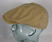 STETSON BROOKLIN Organic Cotton Mütze Flatcap Schiebermütze 6-Panel Cap Beige NE