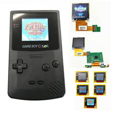 Black Refurbished Game Boy Color GBC Console With Highlight Back Light LCD