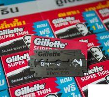 120 (20 packs of 6) Gillette Super Thin Shaver/Shaving Blades