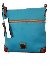 Dooney Bourke Turquoise Blue Crossbody $188 Pebbled Leather R264 Bag Purse