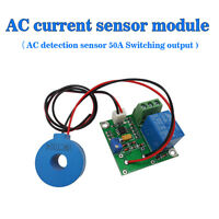 (US) DC24V 50A AC Current Sensor Module Detection Module Switch Output