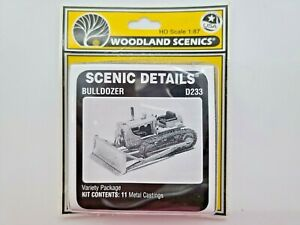 HO SCALE WOODLAND SCENICS #D233 BULLDOZER FACTORY SEALED
