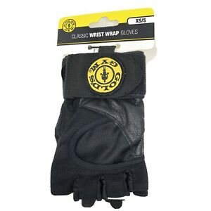 Gold's Gym XS-S Classic Wrist Wrap Gloves  New NWT