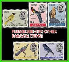 ETHIOPIA 1963 WILD BIRDS SC#C77-81 MNH VULTURE