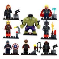 Bausteine Figur Super Hero Captain America Batman Hulk Black Widow Toy Gift 8PCS