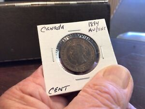 1894 Canada Large Cent, Nice Almost Uncirculated coin!