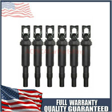 6X For BMW Ignition Coil Updated W/ Connector Boot Genuine Bosch 0221504470 USA